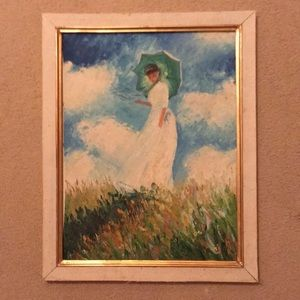 Painting of woman with umbrella
